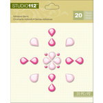 K and Company - Studio 112 Collection - Adhesive Gems - Pink Pearl
