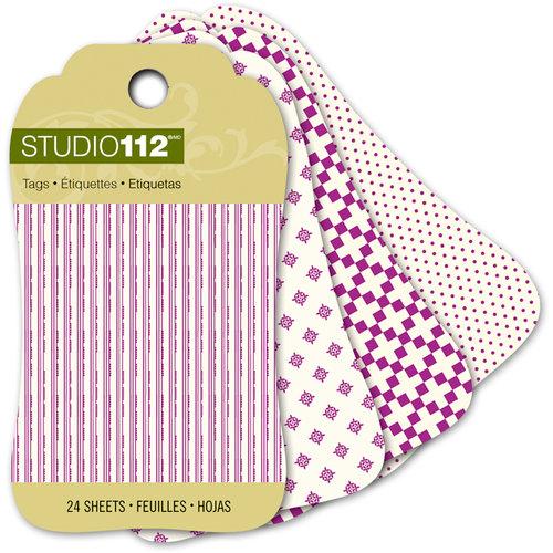 K and Company - Studio 112 Collection - Mini Tag Pad - Dark Purple