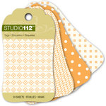K and Company - Studio 112 Collection - Mini Tag Pad - Orange