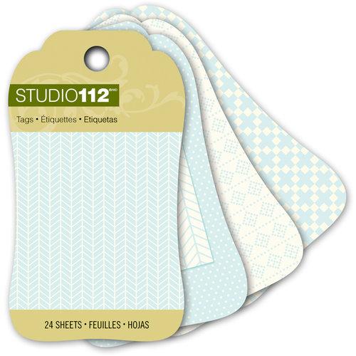 K and Company - Studio 112 Collection - Mini Tag Pad - Blue