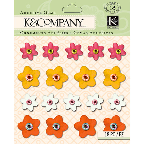 K and Company - Handmade Collection - Adhesive Gems - Floral Warm