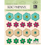 K and Company - Handmade Collection - Adhesive Gems - Floral Cool