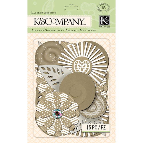 K and Company - Handmade Collection - Layered Accents - Kraft Florals