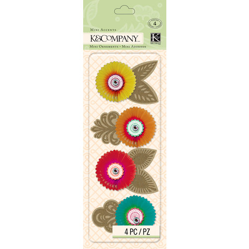 K and Company - Handmade Collection - Mini Accents - Honeycomb Flowers