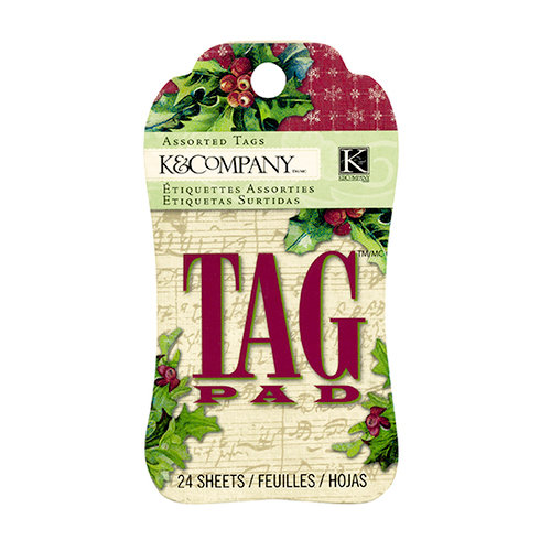 K and Company - Christmas Cheer Collection - Gift Tag Pad