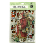 K and Company - Christmas Cheer Collection - Die Cut Cardstock Pieces with Glitter Accents - Holly