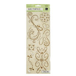 K and Company - Adhesive Gems - Swirl - Champagne