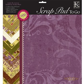 K and Company - 12 x 12 Scrap Pad To Go - K-Ology Verbena