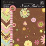 K and Company - 12 x 12 Scrap Pad To Go - Brenda Walton Chocolate Neopolitan