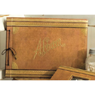 K and Company - Ancestry.com Collection - 14x12 String-Bound Embossed Scrapbook Album