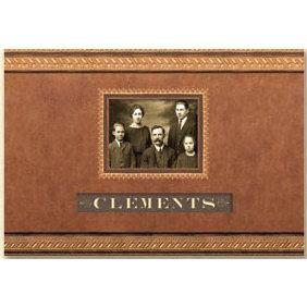 K and Company - Ancestry.com Collection - 11x8.5 Frame A Name Scrapbook Album