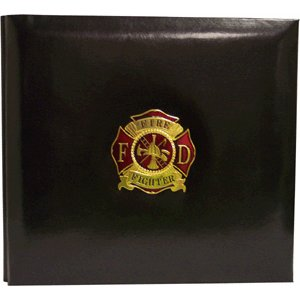 K and Company 12 x 12 Post Bound Scrapbook - Firefighter