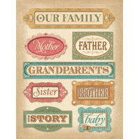 K and Company - Ancestry.com Collection - Grand Adhesions - Names, CLEARANCE