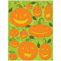 K and Company - Halloween Whimsy Collection - Grand Adhesions Stickers - Pumpkin, CLEARANCE