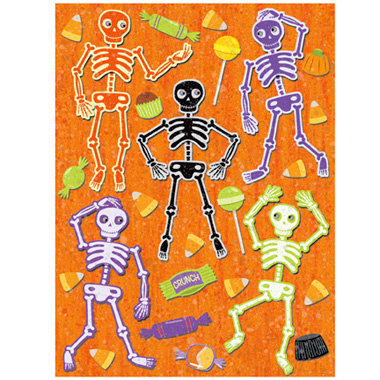 K and Company - Halloween Whimsy Collection - Grand Adhesions Stickers - Skeleton, CLEARANCE