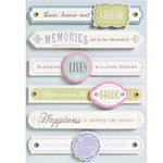 K and Company - Grand Adhesions - Wedding Collection - Wedding Sentiments, CLEARANCE