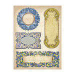 K and Company - Blue Awning Collection - Die Cut Cardstock Tags, CLEARANCE