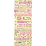 K and Company - Embossed Stickers - Brenda Walton Collection - Small Wonders Girl