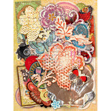 K and Company - Que Sera Sera Collection - Die-Cut Cardstock and Acetate - Icons and Frames