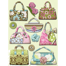 K and Company - Grand Adhesions - Amy Butler Collection - Sola Purses, CLEARANCE