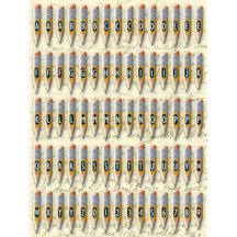 K and Company - Clearly Years Epoxy Stickers - Peter Horjus Collection - School Rules Pencils Alphabet, CLEARANCE