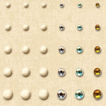 K and Company - Ancestry.com Collection - Adhesive Beads, CLEARANCE