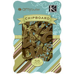 K and Company - Chipboard Alphabet Pieces - Amy Butler Collection - Sola, CLEARANCE