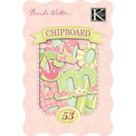 K and Company - Chipboard Alphabet Pieces - Brenda Walton Collection - Small Wonders - Girl