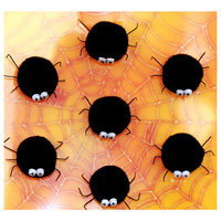 K and Company - Halloween Whimsy Collection - Adhesive Spiders