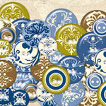 K and Company - Blue Awning Collection - Chipboard Buttons
