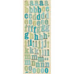 K and Company - Sea Glass Collection - Die Cut Stickers - Alphabet