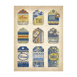 K and Company - Blue Awning Collection - Grand Adhesions 3 Dimensional Stickers - Tags, CLEARANCE