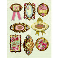 K and Company - Madeline Collection - Grand Adhesions Stickers - Medallions
