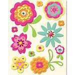 K and Company - Berry Sweet Collection - Felt Stickers - Berry Sweet Florals