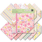 K and Company - Itsy Bitsy Collection - 8.5 x 8.5 Designer Paper Pad - Baby Girl