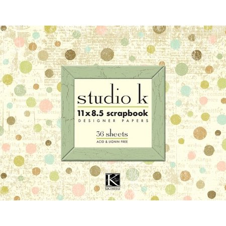 K and Company - Studio K - 11 x 8.5 Scrapbook Designer Papers - 36 sheets, CLEARANCE