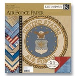 K and Company - Military Collection - 12x12 Patterned Cardstock Double Sided Paper Pad - Air Force