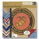K and Company - Military Collection - 12x12 Patterned Cardstock Double Sided Paper Pad - Marines