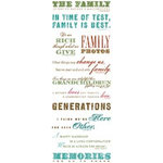 K and Company - Ancestry.com Collection - Rub Ons - Words and Quotes