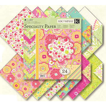 K and Company - Berry Sweet Collection - 12x12 Patterned Cardstock Double Sided Paper Pad - Berry Sweet