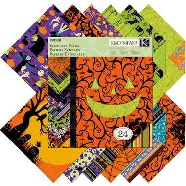 K and Company - Halloween Whimsy Collection - 12 x 12 Specialty Paper Pad