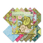 K and Company - Amy Butler Collection - 12x12 Patterned Cardstock Double Sided Paper Pad - Belle