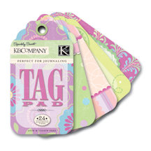 K and Company - Perfect For Journaling Tag Pad - Sparkly Sweet Collection - Girl