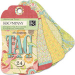 K and Company - Wild Raspberry Collection - Tag Pad
