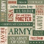 K and Company Patterned Paper - Army Words