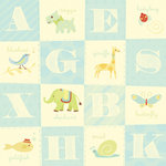 K and Company - 12x12 Paper - Brenda Walton Collection - Small Wonders Boy Alphabet, CLEARANCE