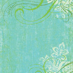 K and Company - 12x12 Paper - Girl Scouts Collection - Blue Swirl Woodcut