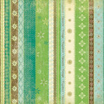 K and Company - 12x12 Paper - Girl Scouts Collection - Decorative Stripes, CLEARANCE