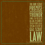 K and Company - 12x12 Paper - Girl Scouts Collection - Promise, CLEARANCE