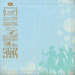 K and Company - 12x12 Paper - Brownie Girl Scouts Collection - The Girl Scout Law, CLEARANCE